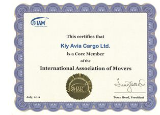 International Association of Movers - Сертификат IAM - Кий Авиа Карго